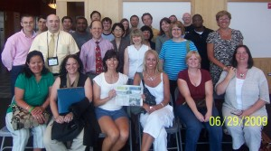 FOP mammor på FOP-labbet i Philadelphia, och hela teamet i Philadelhia 2009