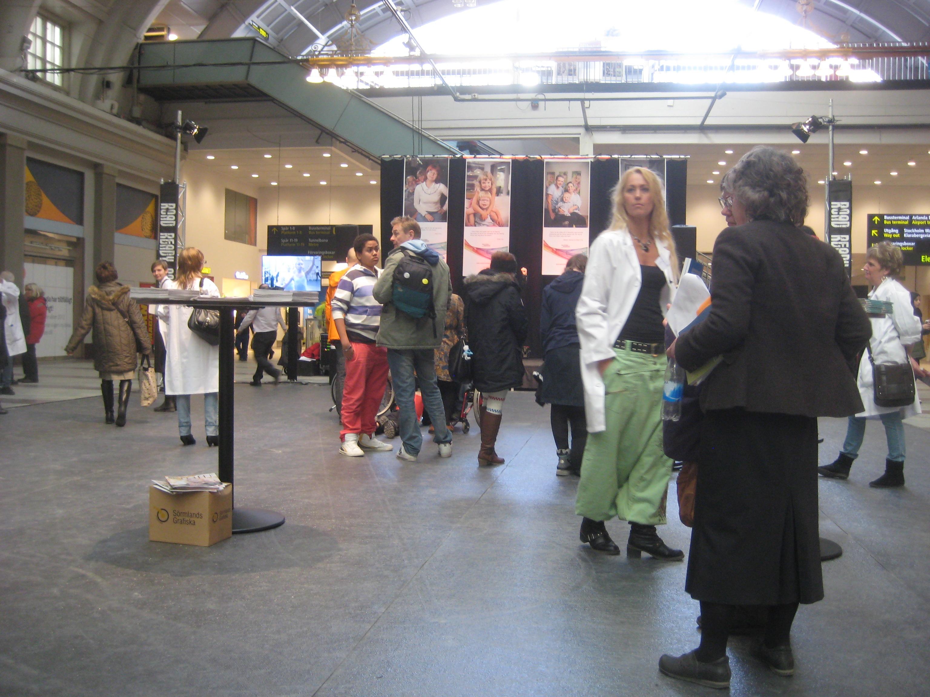 """Marie Hallbert som """"Sällsynt specialist"""" på Centralen 29 feb 2012"""