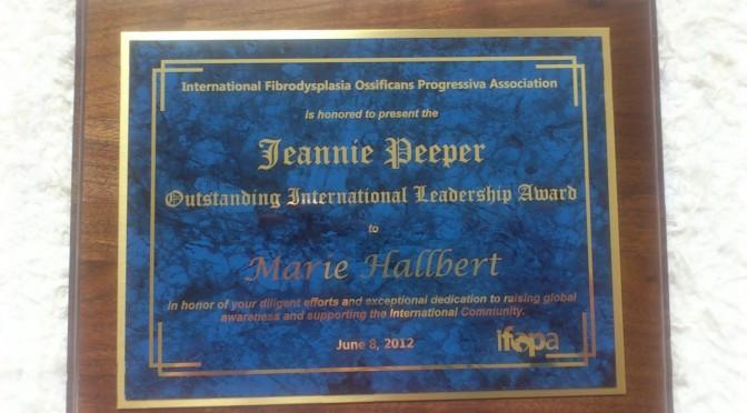 Outstanding International Leadership Award