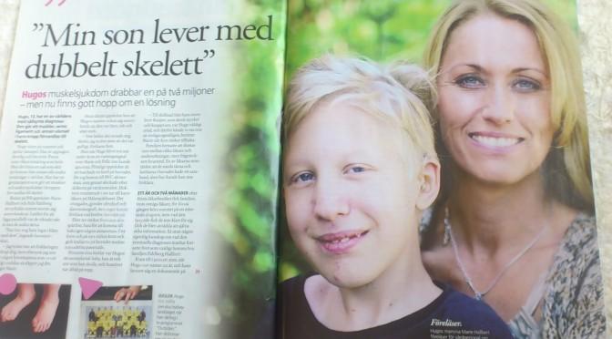 Hugo & Marie i Aftonbladets lördagsbilaga Härligt Hemma 7/7-2012
