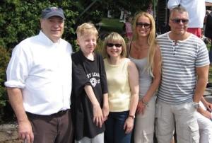 2012 dr Bob Pignolo, Hugo,  dr Eileen Shore, Marie & Pelle på FOP Seminariet i Stockholm.