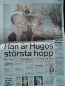 2006. Dr Kaplan&Hugo Aftonbladet angående FOP genens upptäckt.