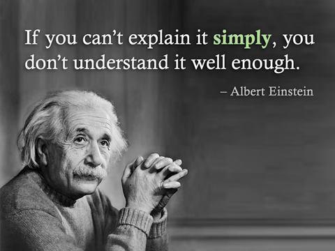 Om du inte kan förklara det enkelt, då förstår du det det inte bra nog // Albert Einstein