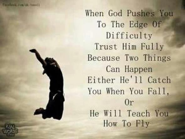 Tanke (även om jag inte tror på gud) som gör mig inspirerad och lite orädd ;)