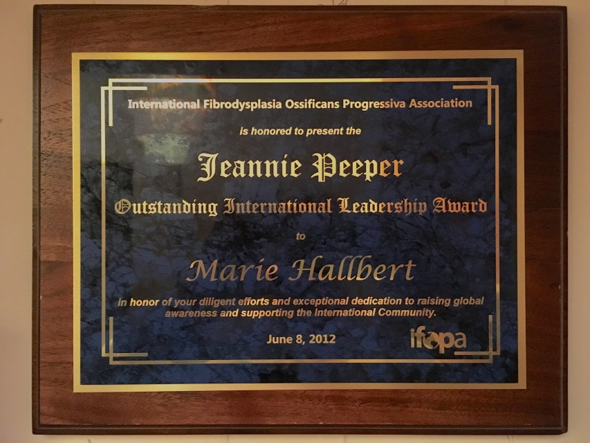 2012 Outstanding International Leadership Award.